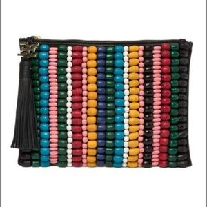 NWT Sam Edelman Beaded Prudence Clutch Pouch Purse